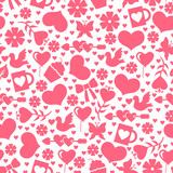 Valentines day pattern seamless with valentines element