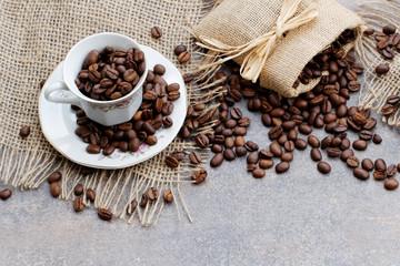 Fototapeta palona kawa w filiżance
