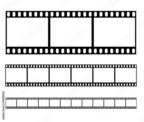 Filmstrip set illustration vector