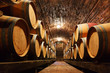 Quadro Oak barrels in a underground wine cellar
