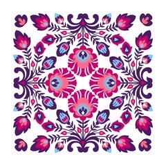Purple folk pattern