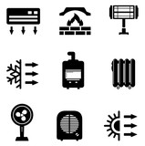Fototapety set icons for heating equipment