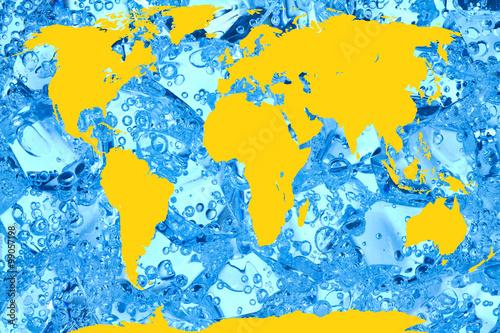 Staande foto Wereldkaart Weltkarte