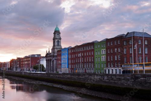 Poster Sunset in Dublin, Ireland