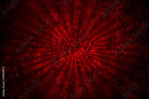 grunge red abstract starburst background - 99064972