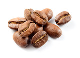 Fototapety Coffee beans isolated on white.