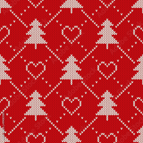 Materiał do szycia Winter Holiday Sweater Design. Seamless Knitting Patter