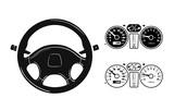 Fototapety icon steering wheel