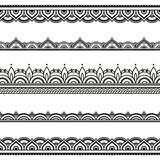 """Vector henna seamless borders. Mehndi style. 98997909,Buddhist temple"""""""