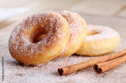 Homemade Sugar Doughnuts. Poster