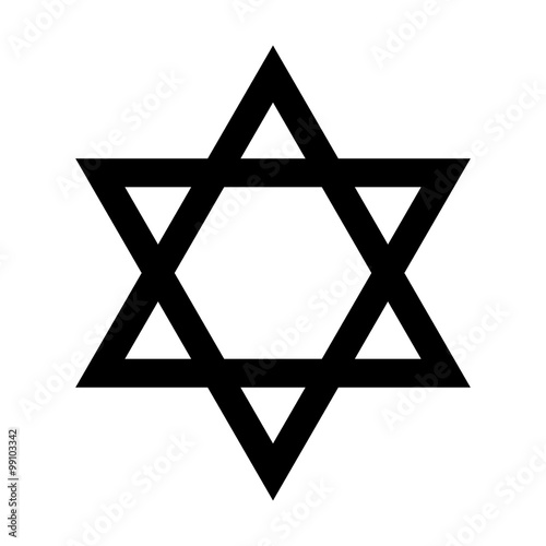 Plakát Star of David - symbol of Judaism flat icon for apps and websites