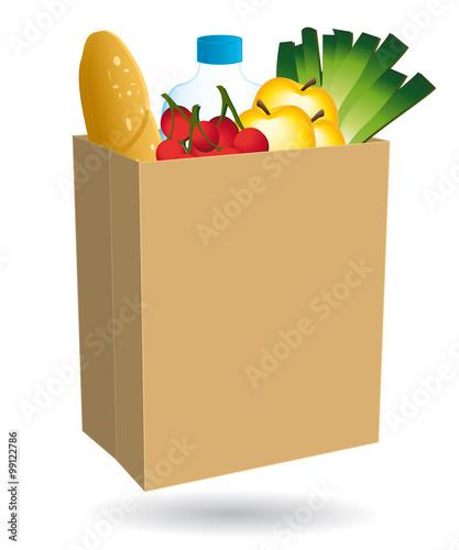 sac en papier rempli de nourriture courses en ligne livraison domicile commerce de. Black Bedroom Furniture Sets. Home Design Ideas