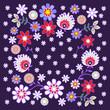 folkowe kwiaty
