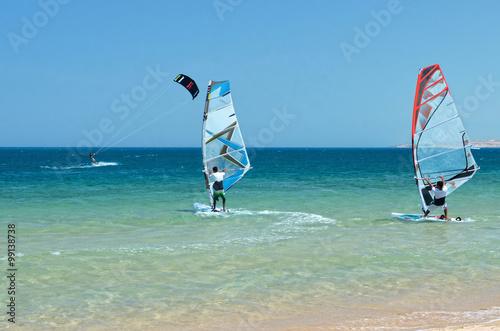 obraz lub plakat Wave on a sandy beach.
