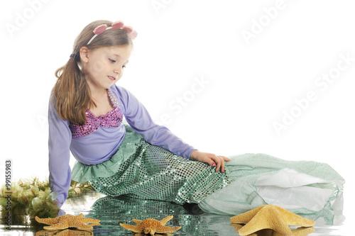 Mermaid contemplative Poster