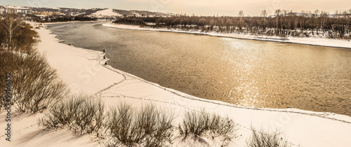 Fototapeta The river in winter