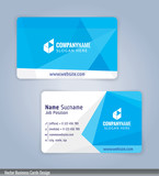 Fototapety White and Blue modern business card template, Illustration Vector 10
