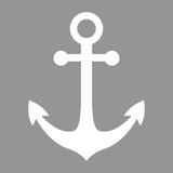 Anchor icon in flat style
