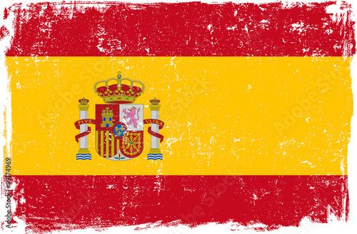 Zdjęcia na płótnie, fototapety, obrazy : Spain Vector Flag on White