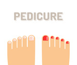 Pedicure feet illustration