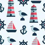 marine cartoon seamless chidish pattern - 99212329