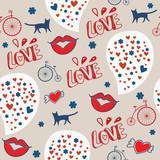 romantic seamless pattern - 99212997