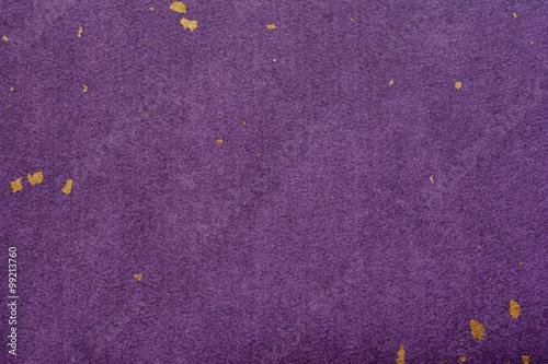 紫色の和紙 金箔 背景素材 Poster