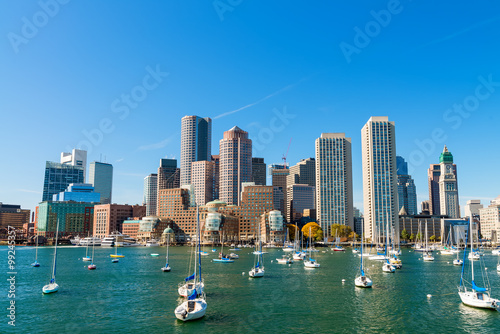 Boston, Massachusetts. Beautiful city skyline