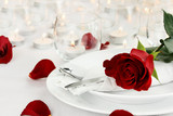 Fototapety Romantic Candle light Table Setting