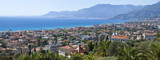 Panorama of Bordighera, Italian Riviera