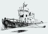 motorboat at mooring