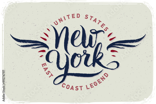 Brush (CO) United States  city photos gallery : Poster with handwritten brush calligraphy. New York, United States ...