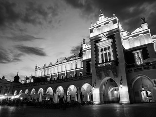 Cloth Hall or Sukiennice in Krakow by night