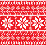 Traditional folk red and white embroidery pattern from Ukraine or Belarus - Vyshyvanka  - 99314986