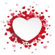 Obrazy na płótnie, fototapety, zdjęcia, fotoobrazy drukowane : White Paper Emblem Hearts Background