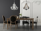 Fototapety Dining table in two styles