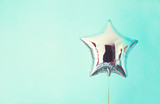 Fototapety star balloon of success on colorful background