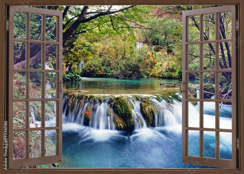 Open window to water stream