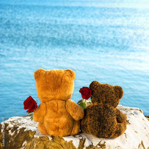 Valentine's day for teddy bears couple