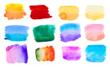 Fototapety colorful watercolor set