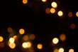 defocused xmas lights