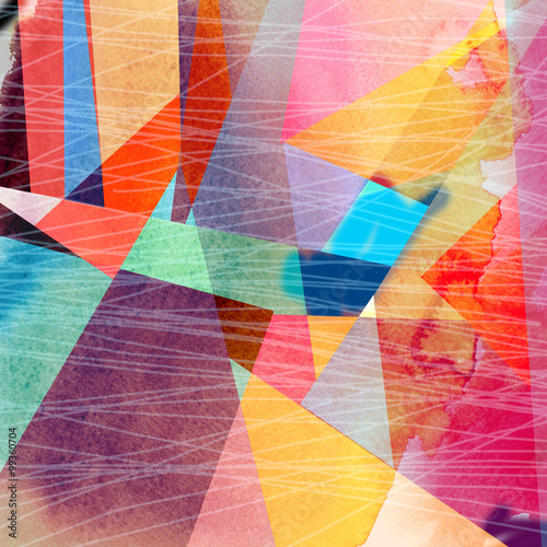 Fototapety, obrazy : Abstract colorful watercolor background