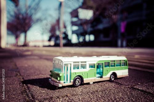 路線バス,ボケている背景
