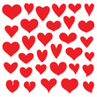 heart vector set - 99375137