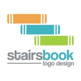 Book Logo - Stairs Book Design Logo Vector