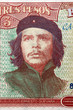 Постер, плакат: CUBA APPROXIMATELY 1995: Ernesto Guevara portrait on 3 Pesos 1995 Banknote from Cuba