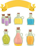 Magic Potion Bottles Banner