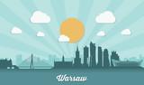 Warsaw skyline - flat design  - 99406918