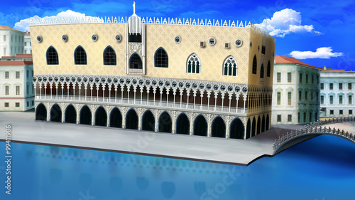 Obraz na Szkle Doge's Palace in Venice