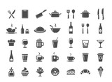 Fototapety Restaurant kitchen icons